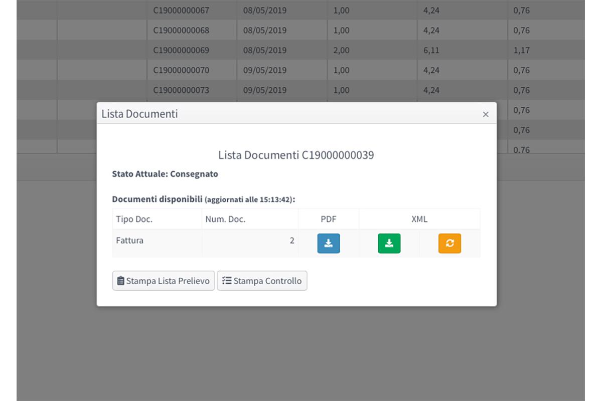 SpesaWEB gestionale documenti carrello