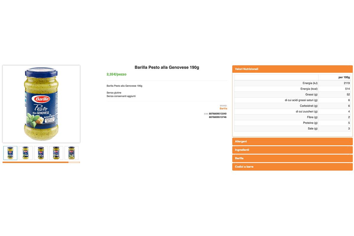 SpesaWEB dettaglio prodotto